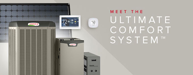The Lennox Ultimate Comfort Systems have optional in Solar Power capabilities built in