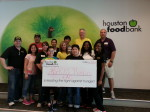 team abacus at first houston food bank volunteer day
