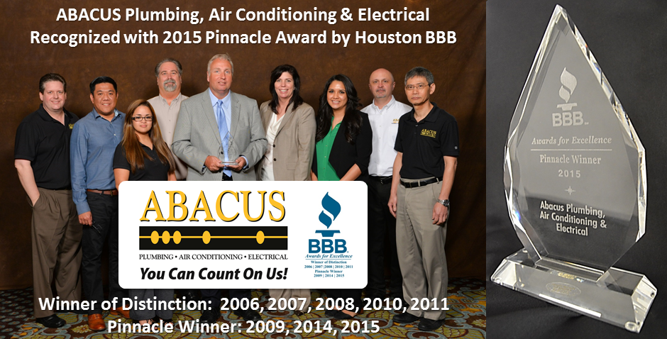 Abacus Recognized With Their Third Pinnacle Award By Houston Bbb