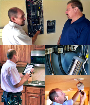 houston electrician checking electrical wiring