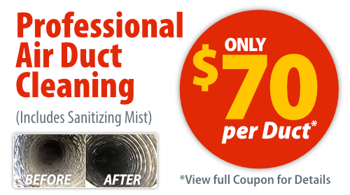 Save $70 per Duct on Air Duct Cleaning