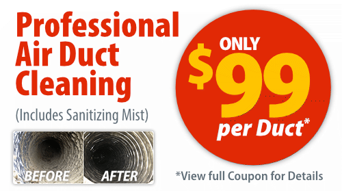 Save $99 per Duct on Air Duct Cleaning