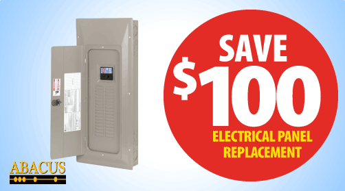 Save $100 on Electrical Panel Replacement