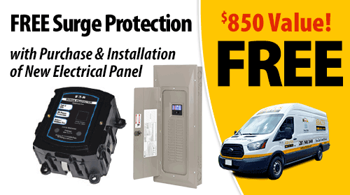 Free Surge Protector with Purchase & Installation of New Electrical Panel