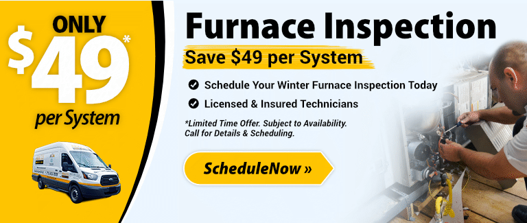 Furnace Inspection - Only $49 per system