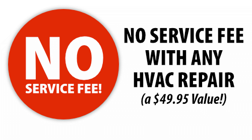 No Service Fee on Any HVAC Repair