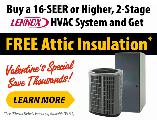 Valentine's Day Attic HVAC Special