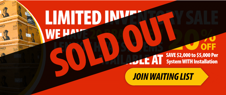 Limited Inventory Sale - SOLD OUT