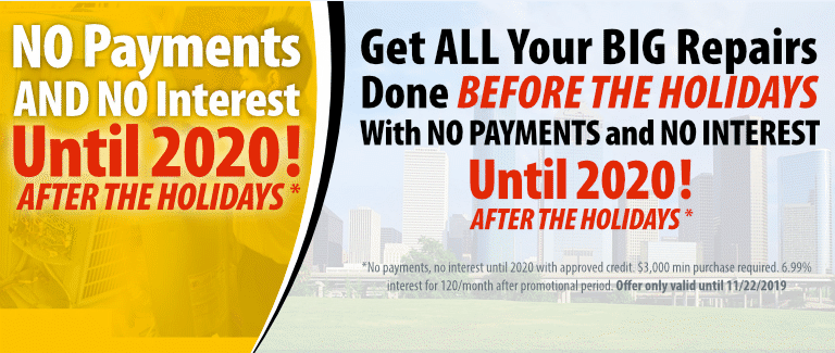 No Payments and No Interest Until 2020 After The Holidays