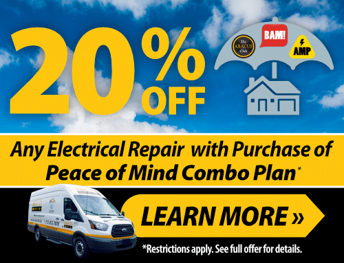 20% OFF ANY Electrical Repairs with Purchase of Peace of Mind Combo Plan